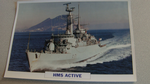 1972 HMS Active Frigate  warship framed picture
